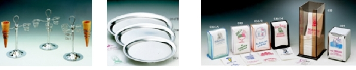 Eistütenhalter-Serviertabletts-Serviettenhalter